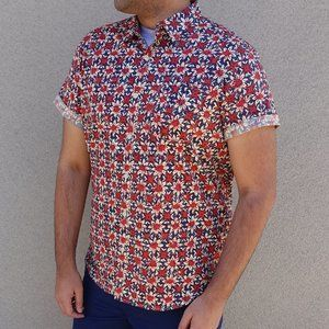 Lucky Brand Patterned Short Sleeve Shirt